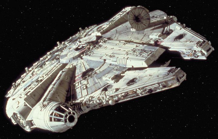 Un'immagine del Millenium Falcon originale