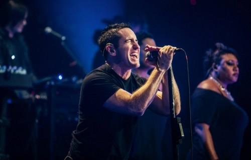 Trent Reznor durante l'esibizione dei Nine Inch Nails ad Austin City Limits del 18 ottobre scorso