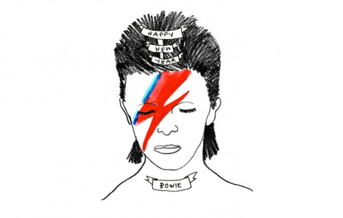 David Bowie sulle cartoline dell'illustratrice Deer Dana