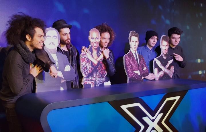 I finalisti di X Factor 9, nell'ordine: Davide, Giovanni, Enrica e gli Urban Strangers