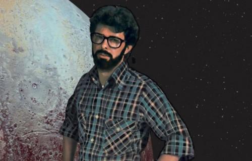George Lucas, inventore di mondi, in una rielaborazione grafica di Paolo D'Altan