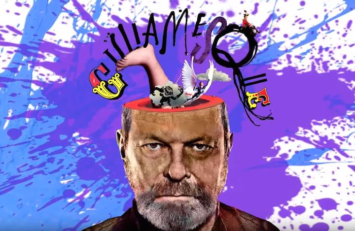"""Terry Gilliam nella copertina di """"Gilliamesque"""", edito in Italia da Sur"""