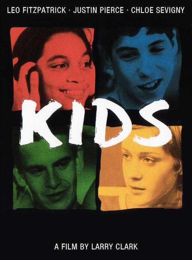 La locandina di Kids, presentato a Cannes nel 1995.