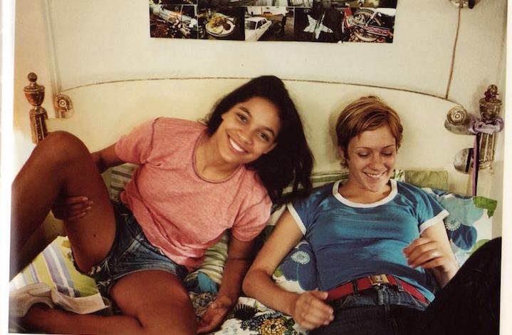 Rosario Dawson e Chloe Sevigny durante le riprese di Kids