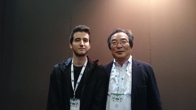 Il creatore di Pac-Man Tohru Iwatani con l'autore dell'intervista