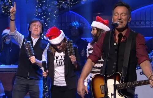 Bruce Springsteen e Paul McCartney al SNL