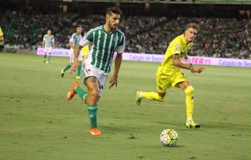 Cristiano Piccini in campo con il Real Betis