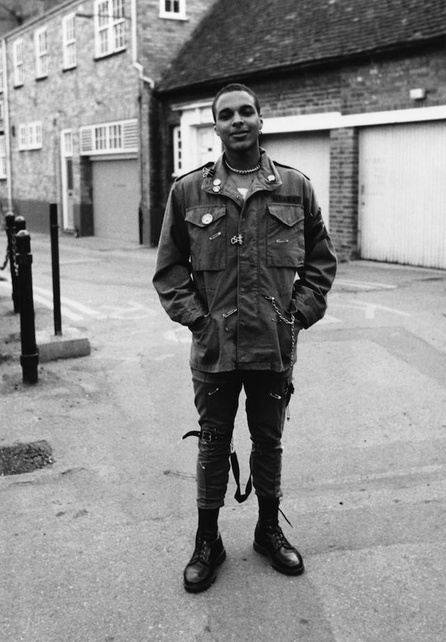 Un giovane punk, a Londra, 1979. © Janette Beckman/PYMCA