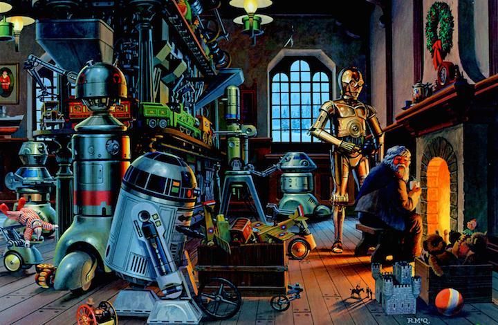 La cover dell'album di Natale cantato da R2-D2 e C3PO