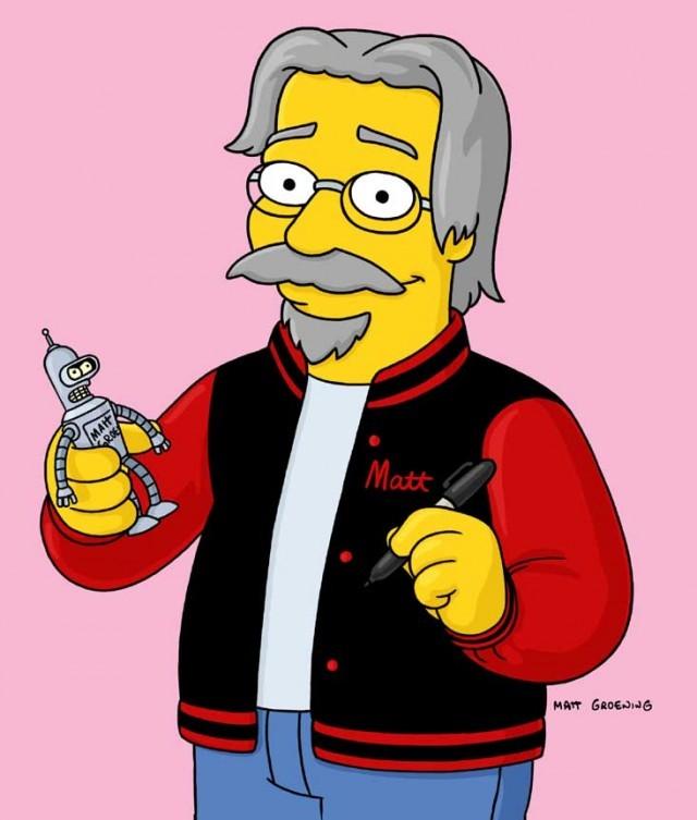 "Matt Groening in versione ""cittadino di Springfield"""