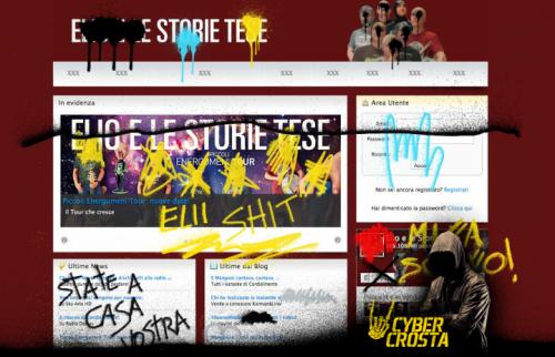Cyber Crosta ha hackerato il sito degli Elio e le Storie Tese da questa mattina