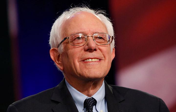 Bernie Sanders, al dibattito dei candidati democratici alla presidenza degli Stati Uniti a Charleston, South Carolina. Foto Patrick T. Fallon/Bloomberg