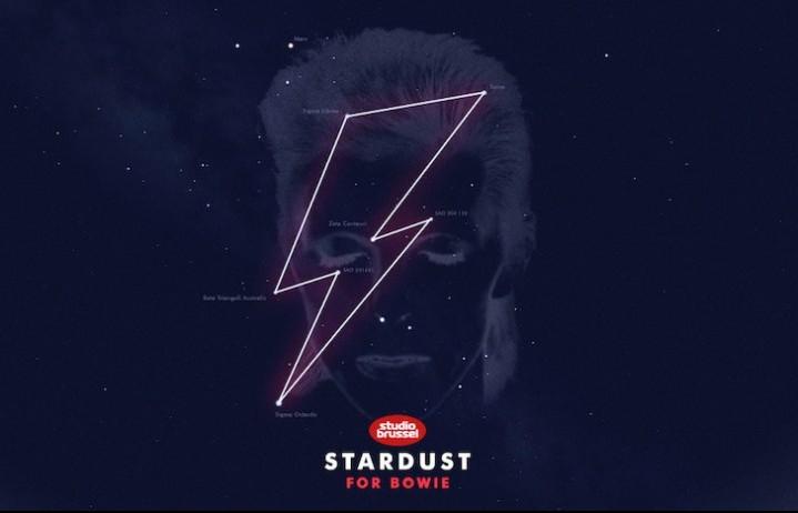 Uno screenshot dal sito Stardust per Bowie