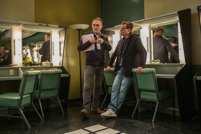 "Danny Boyle e Aaron Sorkin sul set di ""Steve Jobs"""