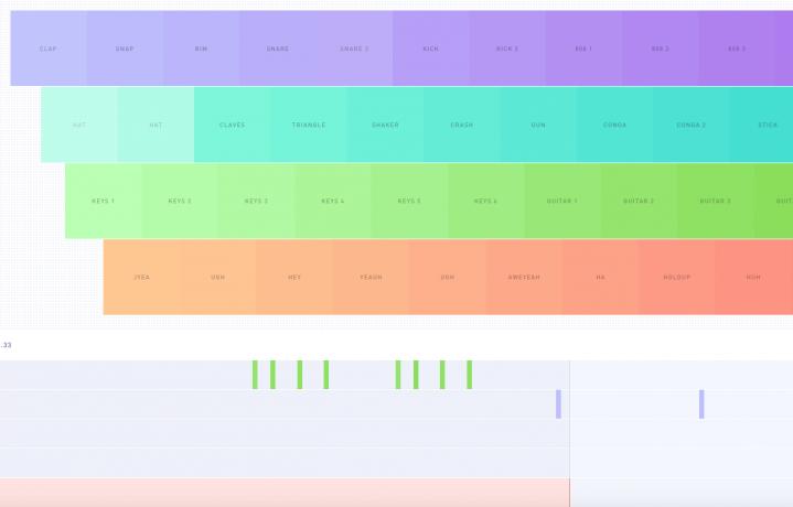 Una schermata di Sampulator