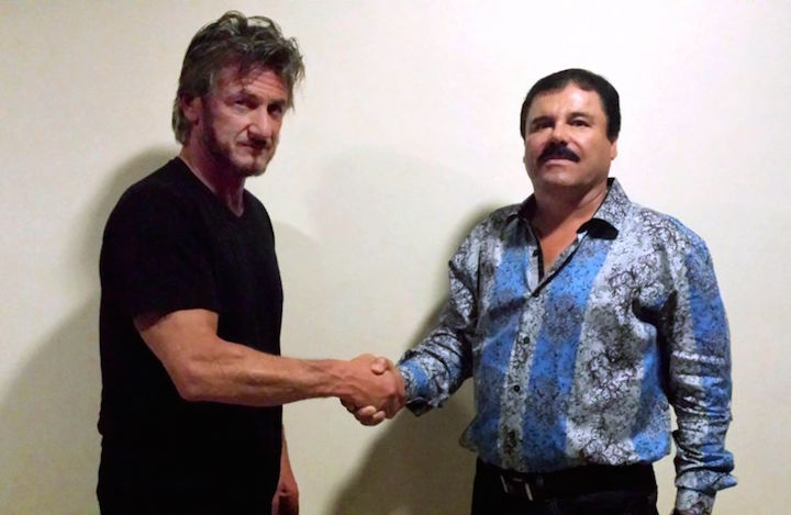 Sean Penn intervista il boss della droga El Chapo per Rolling Stone