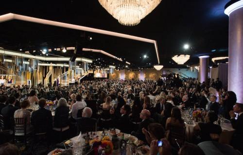 Un'immagine della scorsa edizione dei Golden Globes