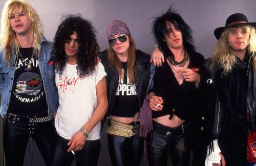 I Guns N' Roses nel 1987, foto di Paul Natkin/WireImage