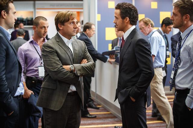 "Steve Carell (a sinistra) e Ryan Gosling in ""La grande scommessa"". Foto  Paramount Pictures e Regency Enterprises"