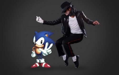 """Michael Jackson e """"Sonic"""", il protagonista della saga di videogame"""