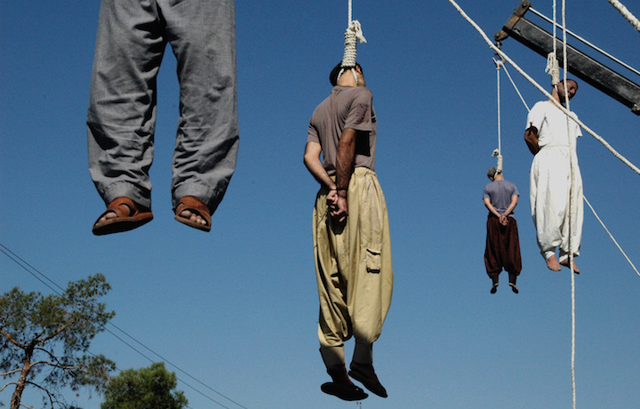 Quattro condannati a morte per impiccagione in Iran. Foto AFP/Getty Images