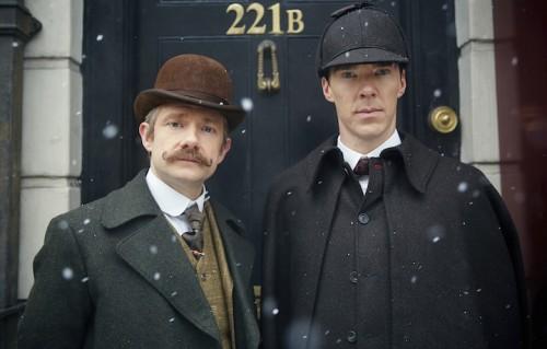 I protagonisti di Sherlock. Foto: Robert Viglasky