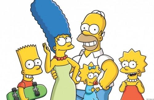 La famiglia Simpson al completo. Foto: Facebook