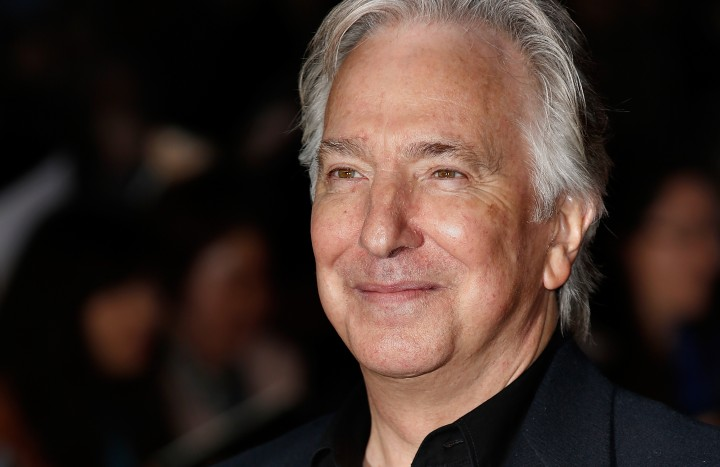 "Alan Rickman, da tutti ricordato per il suo Severus Piton nella saga di ""Harry Potter"" - Photo by Tim P. Whitby/Getty Images for BFI"