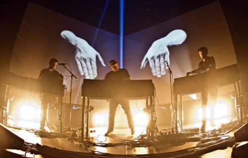Moderat live alla Monkeytown Fest Tempodrom di Berlino, dicembre 2014 (Photo by Frank Hoensch/Redferns via Getty Images)