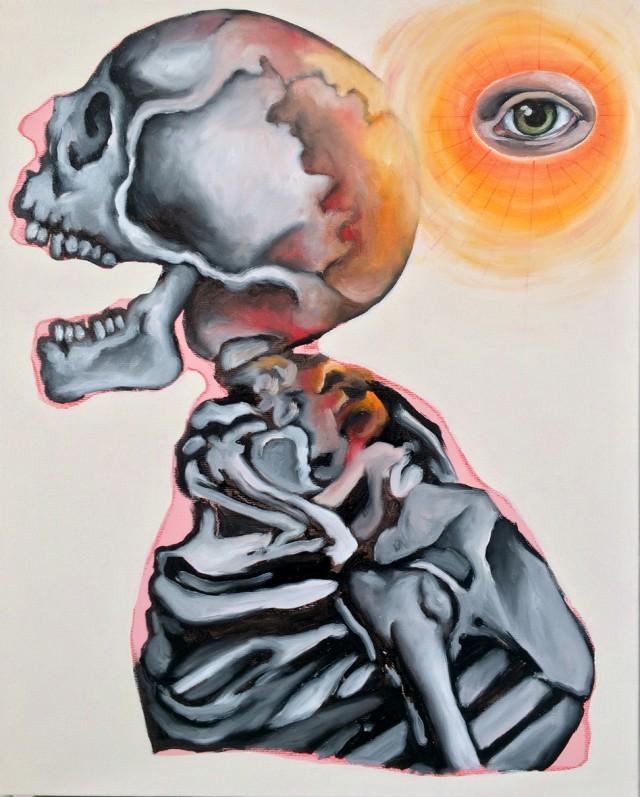 """""""Death"""", una delle opere di Massimo Gurnari in mostra dall'11 febbraio al 9 aprile alla galleria AREA B di Milano"""