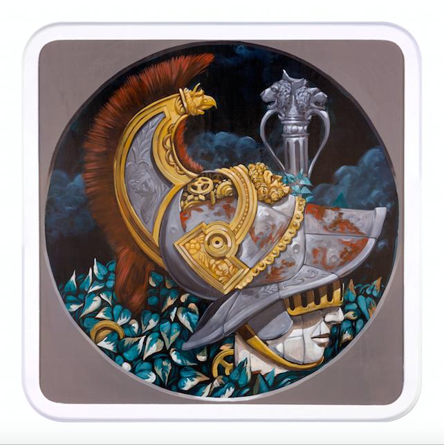 Pixelpancho - Orazio, acrilico su legno - 100 x 100 cm, 2016