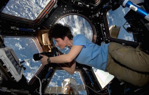Samantha Cristoforetti, foto ESA/NASA