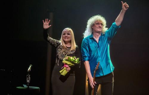 Brian May e Kerry Ellis in concerto a Milano, foto Francesco Prandoni/Redferns