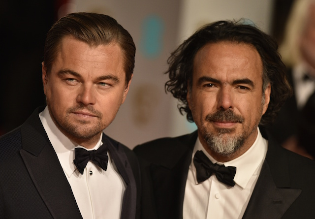 Leonardo DiCaprio e Alejandro G. Inarritu ai BAFTA, foto di Niklas Halle N/AFP/Getty Images