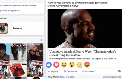 Kanye West lancia una nuova traccia, che reazione ti provoca? Inauguriamo la nuova funzione di Facebook con lui?