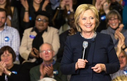 Hillary Clinton in New Hampshire, foto di Natasha Moustache/WireImage