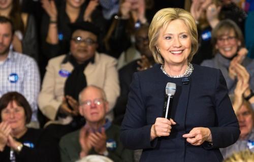 Hillary Clinton in New Hampshire, foto di Natasha Moustache/WireImage