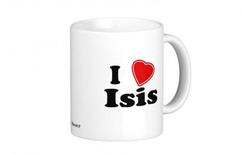 """Un sito di servizi di stampa vende sul suo shop magliette, spille e tazze con la scritta """"I heart ISIS"""". Disponibili anche magliette con scudi crociati o con la scritta """"I heart Putin"""""""