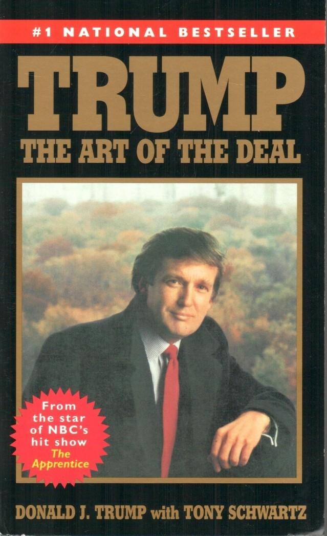 """La copertina del libro di Donald Trump, """"The Art of The Deal"""" - 1987"""