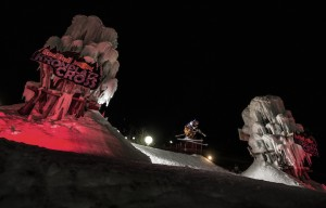 Competitor performs during the qualifications at the Red Bull Kronplatz Cross at Kronplatzin Valdaora, Italy, on February 28th, 2015