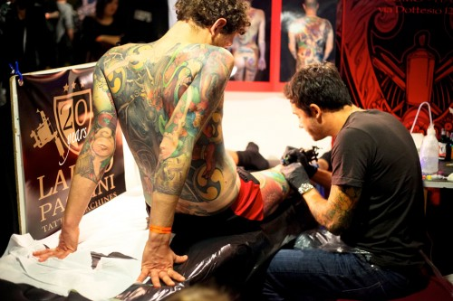 Milano Tattoo Convention, tattoo, tatuaggio, ink, rollink, Milano, foto, gallery, Arianna Carotta, La Pina deejay