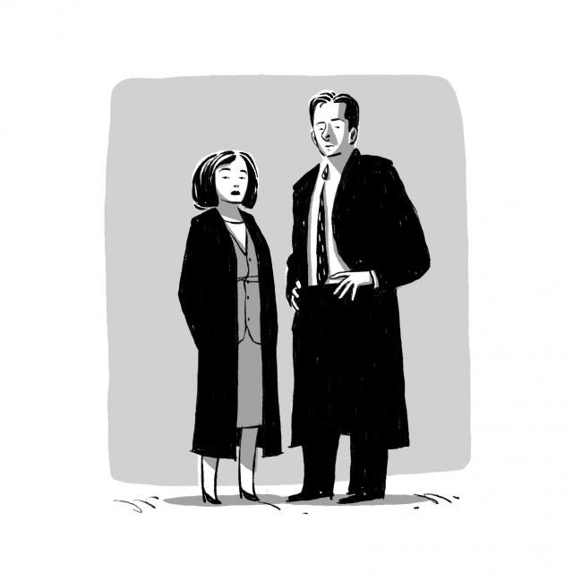 X-Files nelle illustrazioni di Daniel Cuello