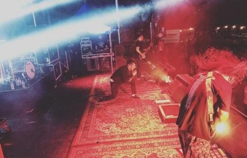 I Deftones ieri (16/3) a Mission, Texas. Foto: Facebook