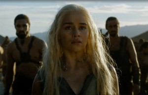 Emilia Clarke nel ruolo di Khaleesi