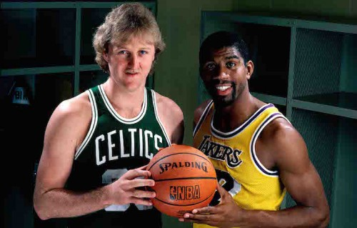 Larry Bird e Magic Johnson. Siete meglio di loro? Foto: Andrew D. Bernstein/NBAE/Getty Images