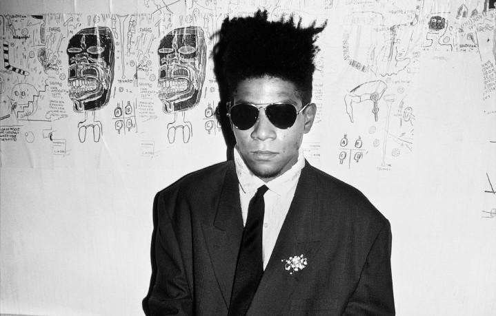Jean-Michel Basquiat fotografato da Roxanne Lowit