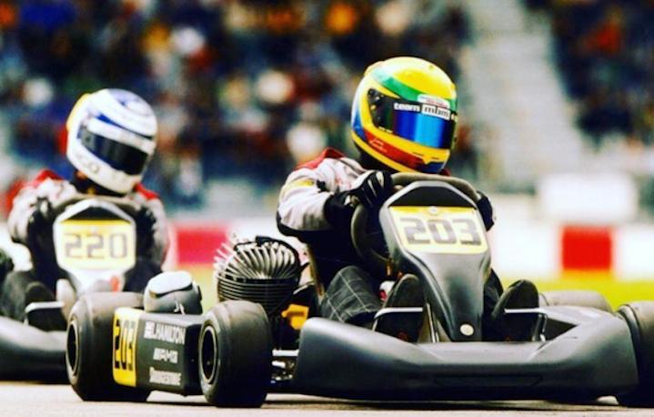 Lewis Hamilton agli albori della sua carriera automobilistica