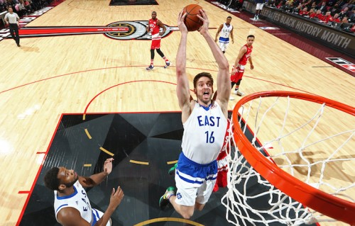 Pau Gasol all'ultimo All-Star Game. Foto: Nathaniel S. Butler/NBAE via Getty Images