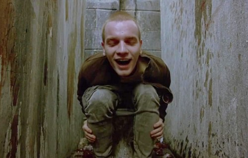 "Ewan McGregor in una scena dell'originale ""Trainspotting"" del 1996"