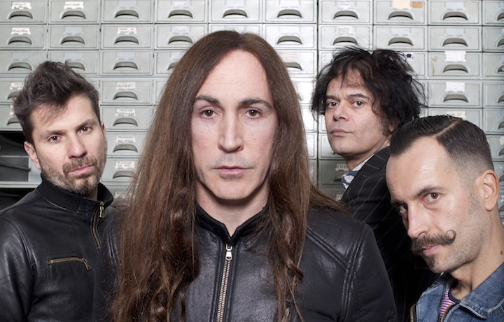 Gli Afterhours – da sinistra, Rodrigo Erasmo, Manuel Agnelli, Roberto dell'Era, Xavier Iriondo. Foto di Silvia Tofani